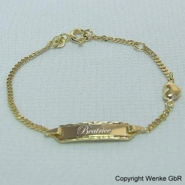 Kinderarmband Gold Mit Gravur